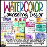 Watercolor Counseling Decor Set
