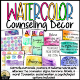 Watercolor Counseling Office Decor Set Rainbow