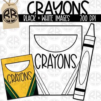Watercolor Crayon Clipart