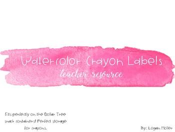 Watercolor Crayon Labels