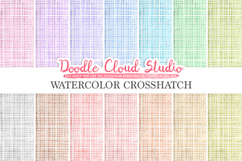 Watercolor Crosshatch digital paper, Crosshatch patterns, pastel watercolor