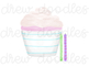 Watercolor Cupcakes Digital Clip Art Set