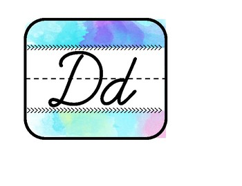 Watercolor Cursive Alphabet Line
