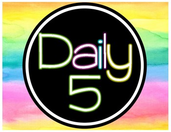 Watercolor Daily 5 Chart (Color Splash Series)