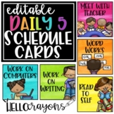 Watercolor Daily 5 Schedule Cards