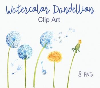 Watercolor Dandellion Clip Art