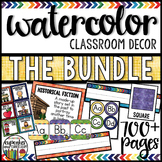 Classroom Decor Theme: Watercolor