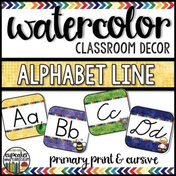 Watercolor Decor: Alphabet Line