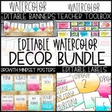Watercolor Decor Bundle -Editable