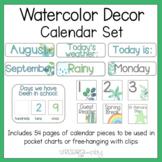 Watercolor Decor Calendar Set