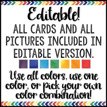 Watercolor Decor: Classroom Jobs Editable