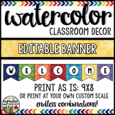 Watercolor Decor: Editable Banner