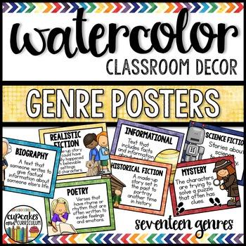 Watercolor Decor: Genre Posters