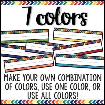 Watercolor Decor: Name Plates Editable