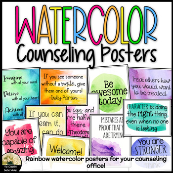 Watercolor Decor Posters