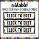 Watercolor Decor: Schedule Cards Editable