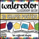 Watercolor Decor: Shapes Posters