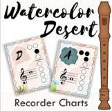 Watercolor Desert Recorder Charts