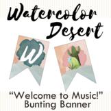 Watercolor Desert Welcome Banner