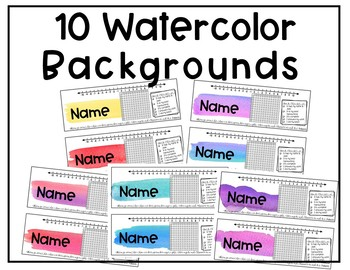 Watercolor Desk Name Tags