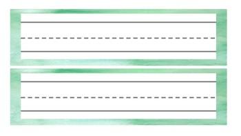 Watercolor Desk Tags (Basic)