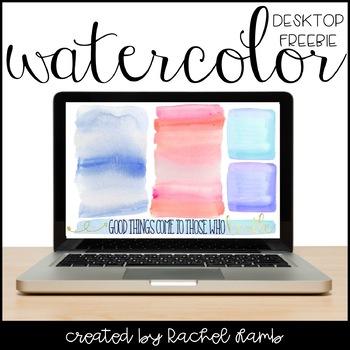 Watercolor Desktop Organization Wallpaper