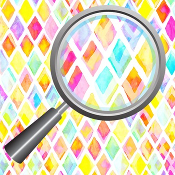 Watercolor Diamonds - Vivid Painted Diamonds Digital Papers / Patterns Clip Art