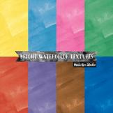 Digital Paper - Bright Watercolor Textures