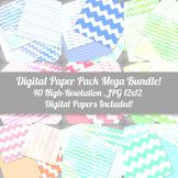 Watercolor Digital Paper Pack Mega Bundle - 12x12 - High R