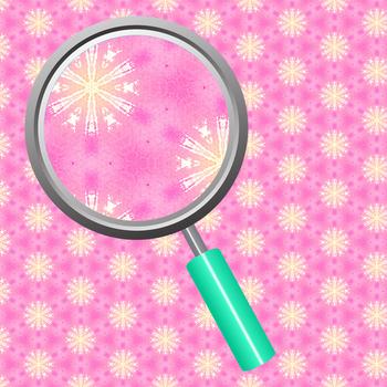 Watercolor Digital Paper - Pink Snowflakes Backgrounds / Patterns Clip Art