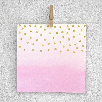 Watercolor Digital Paper With Gold Confetti