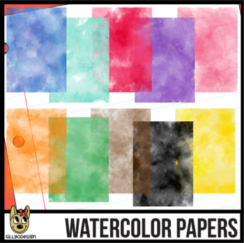 Watercolor Digital Papers