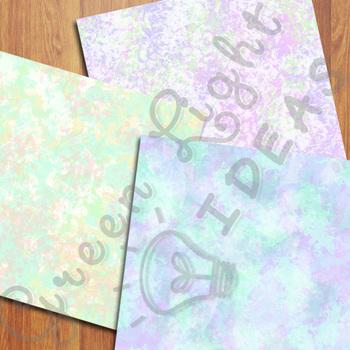 Watercolor Digital Papers / Watercolor Paint Backgrounds