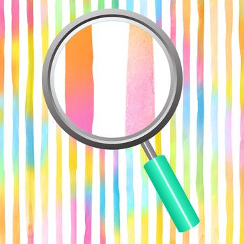Watercolor Digital paper - Rainbow Lines Background Clip Art Set Commercial Use