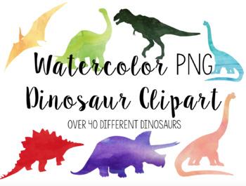 Watercolor Dinosaurs