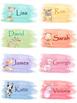 Name Tags - Dogs Clip Art (editable)