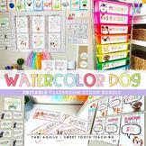 Watercolor Dogs Classroom Decor Kit