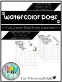 Watercolor Dogs Snack Calendars