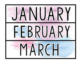 Watercolor Donut Calendar