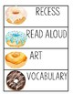 Watercolor Donut Schedule Cards