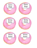 Editable Watercolor Donut Themed Back To School Wishlist