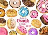 Watercolor Donuts Clipart