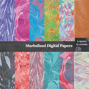 Marbelized Digital Paper