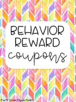 Watercolor Dot Behavior Reward Coupons