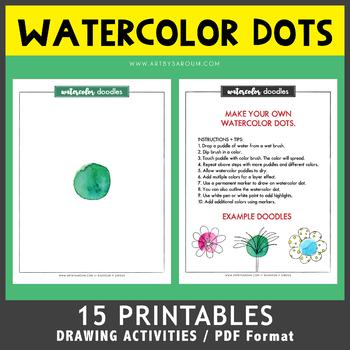 Watercolor Dot Doodles