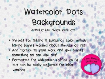 Watercolor Dots Backgrounds