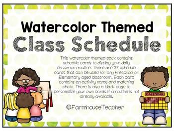 Watercolor Dots Class Schedule