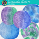 Watercolor Dots Clip Art {Hand-Painted Watercolor Textures in Cool Colors} 4