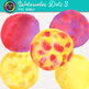 Watercolor Dots Clip Art {Hand-Painted Watercolor Textures in Warm Colors} 3