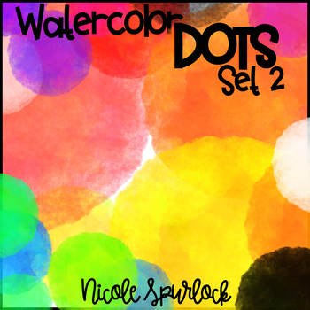 Watercolor Dots SET2